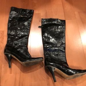 Jimmy Choo Patent Leather Boots - Black - 39.5